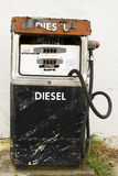 Diesel pump. Old worn out and rusted diesel pump Royalty Free Stock Images