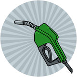 Diesel pump nozzle illustration Stock Photography