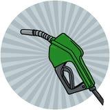 Fuel Nozzle illustration. Diesel Fuel Nozzle illustration; Gas Pump Nozzle drawing Stock Photography