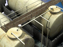 Diesel pump station Stock Photography