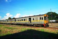 Diesel rail car. No 408, Free local train from chiang mai to Nakhonsawan at chiang mai train station Royalty Free Stock Images