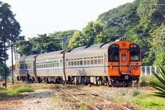 Diesel rail car no.11. From  Bangkok to chiangmai at chiang mai station Royalty Free Stock Photography