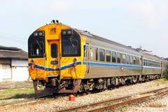 Diesel rail car no.12. From chiang mai to Bangkok at chiang mai station Stock Photo