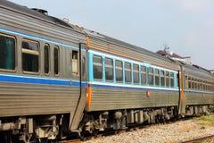 Diesel rail car no.12. From chiang mai to Bangkok at chiang mai station Royalty Free Stock Image