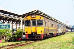 Diesel rail car no 408. Free local train from chiang mai to Nakhonsawan at chiang mai train station Stock Photos