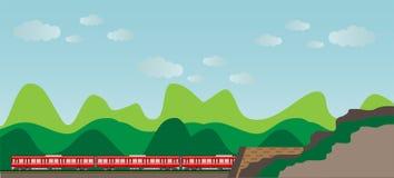 Diesel Railcar train and tunnel Stock Photos