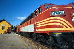 Diesel Railroad Train Engine Royalty Free Stock Images