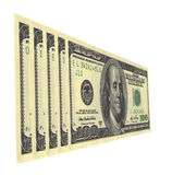 Diesel. Serial numbers on dollar bills draw up words Stock Photos