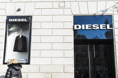 Diesel shop in Rome, Italy Stock Image