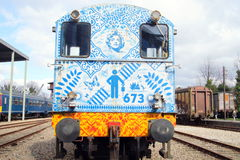 Diesel- shunting lokomotiv för NS-grupp 600 Arkivbilder
