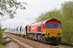Diesel stone train for London Royalty Free Stock Photography