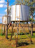 Diesel Storage Tanks on an Australian Farm Royalty Free Stock Images