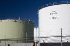 Diesel storage tanks stock photos