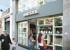 Diesel Store in Istanbul Stock Photos