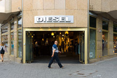 Diesel Store on Kurfuerstendamm. BERLIN - JULY 24: Diesel Store on Kurfuerstendamm. Diesel - Italian design company and brand fashion apparel and accessories Stock Image