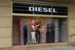 Diesel Store on Kurfuerstendamm. BERLIN - JUNE 14, 2015: Diesel Store on Kurfuerstendamm. Diesel - Italian design company and brand fashion apparel and Stock Image