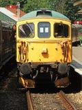 Diesel sur le chemin de fer de jacinthe des bois Photographie stock
