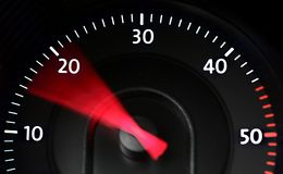 Diesel tachometer in action Royalty Free Stock Photo