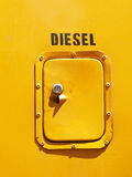 Diesel tank door Stock Photo