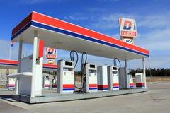 Diesel- tanka station Fotografering för Bildbyråer