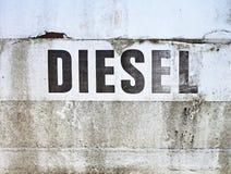 diesel- tecken Arkivfoto