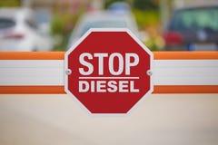 Diesel- tecken för stopp royaltyfri bild