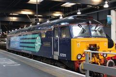 Diesel Thunderbird, estación Londres de la clase 57 de Euston imágenes de archivo libres de regalías