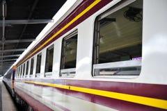 Diesel train. Window of diesel train in Thailand Royalty Free Stock Photo