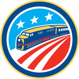 Diesel Train American Stars Stripes Retro Stock Photo