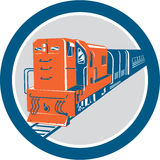 Diesel Train Circle Retro Royalty Free Stock Photography