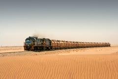 Diesel train in desert Stock Photography
