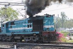 Diesel Train Engine. Diesel Train/Rail Engine and Smoke stock image