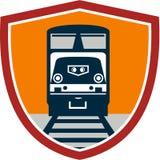 Diesel Train Freight Rail Crest Retro Stock Image