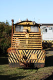 Diesel Train. Old narrow gauge diesel engine cane railways Stock Photos