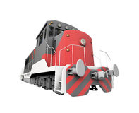 Diesel train over white Stock Photography