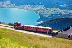 Diesel train railway carriage going to Schafberg Peak Royalty Free Stock Photography