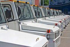 Diesel- traktorer (den främre sikten) royaltyfria foton
