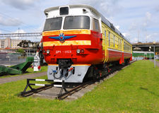 Diesel trein Dr.-1 wagen Museum van spoorweguitrusting Baranovich royalty-vrije stock afbeelding