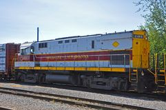 Diesel van de Lackawannaspoorweg locomotief, Scranton, PA, de V.S. royalty-vrije stock afbeeldingen