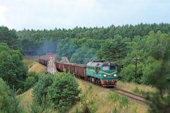 Diesel van de vracht trein stock fotografie