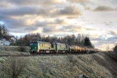 Diesel van de vracht trein royalty-vrije stock fotografie