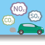 Diesel vehicle and Exhaust gas, image illustration Stock Images