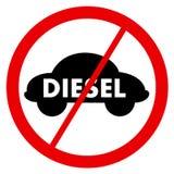 Diesel verbod royalty-vrije illustratie