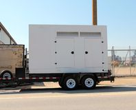 Dieselbetriebener Generator lizenzfreies stockfoto