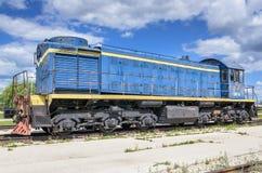 Dieselelektrische Lokomotive TEM2 hergestellt durch die Kharkov-Transport-Maschinerieanlage lizenzfreie stockbilder