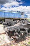 Dieselelektrische Lokomotive TEM2 hergestellt durch die Kharkov-Transport-Maschinerieanlage stockfotografie
