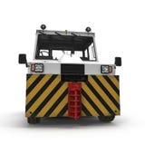 Dieselflugzeuge Tow Tractor auf Weiß Front View Abbildung 3D Lizenzfreie Stockfotografie