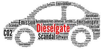 Dieselgate word cloud Stock Images