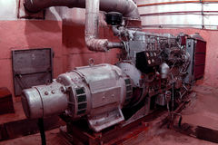 Dieselgenerator Lizenzfreies Stockfoto
