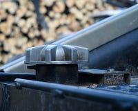 Dieselkraftstoff-Kappe auf Winde Stockfotografie